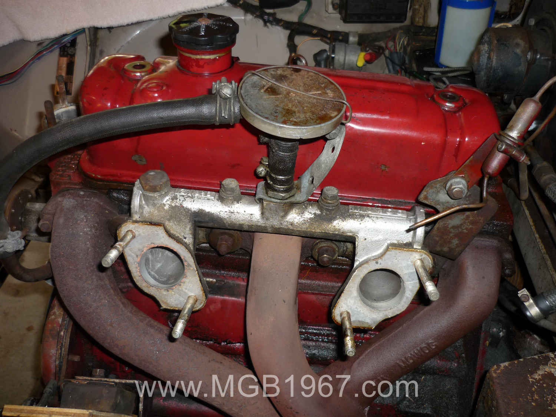 Cleaned MGB crankcase ventilation valve