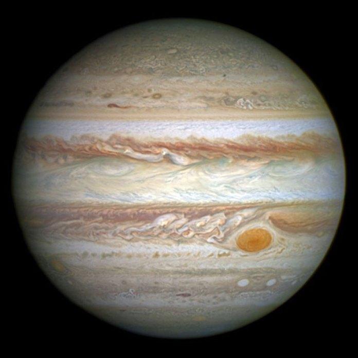 The planet Jupiter Courtesy: NASA, ESA, and A Simon. (Courtesy: Goddard Space Flight Center)