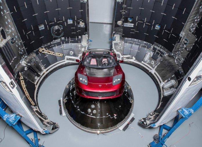 Tesla Roadster on Falcon Heavy Rocket