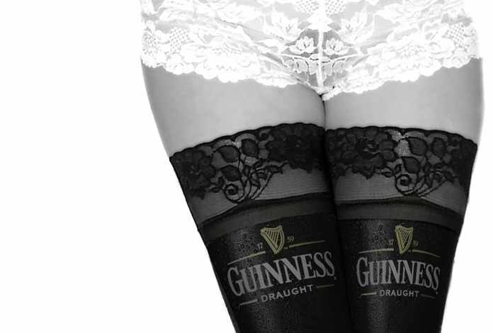 Guinness Girl in Panties