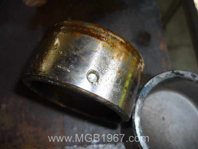 MGB GT front brake piston with hole
