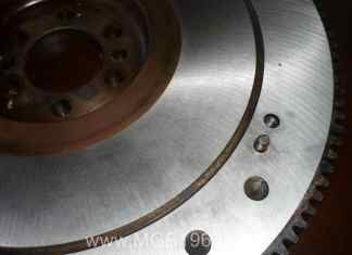 MGB flywheel resurfacing looks great