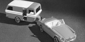 MGB with travel trailer