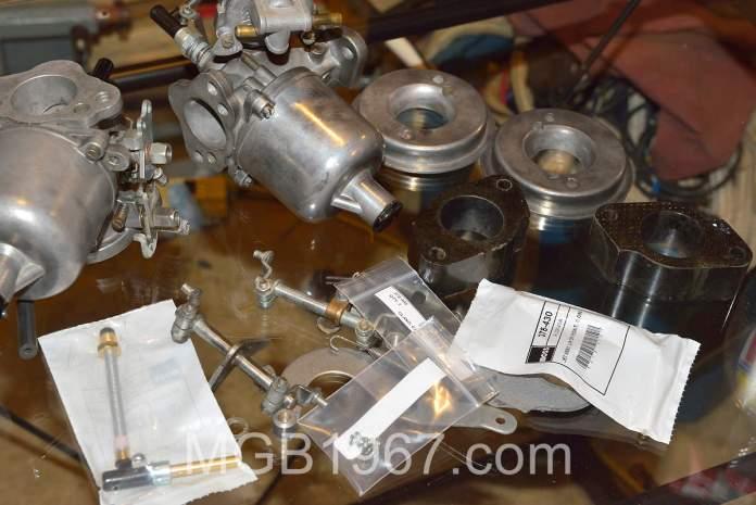 Disassembled MGB Carburetor