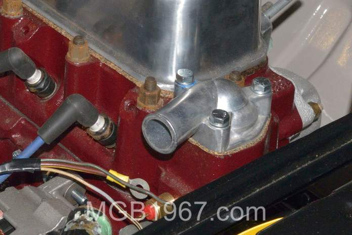 Early MGB thermostat housing