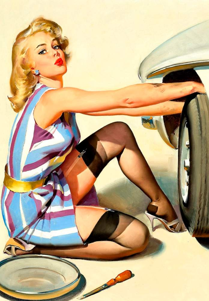 Fixing a Flat Pinup Girl