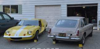 1970 Lotus Europa and 1967 MGB GT