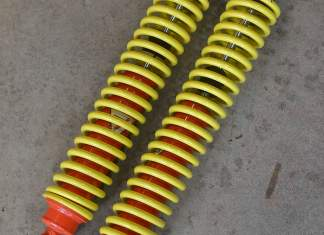 Colourful Lotus Europa rear struts