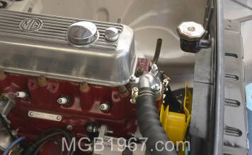 MGB GT engine cooling
