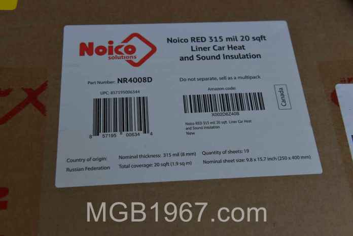 Noico Heat and Sound Insulation