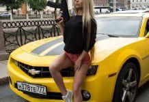 Russian machine gun babe