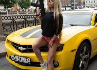 Russian machine gun babe