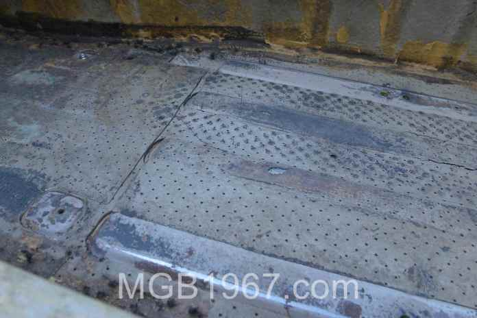 MGB GT original sound deadening insulation