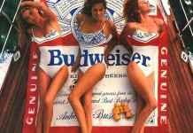1990 Budweiser Beer Swimsuit Magazine Ad