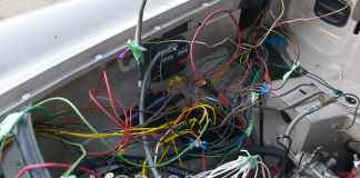 MGB GT rats nest wiring