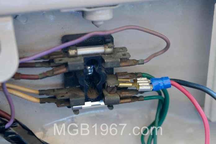 Original MGB GT fuse block