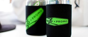 Custom Heat Transfers on Can Coolers make great leave-behind marketing gifts!