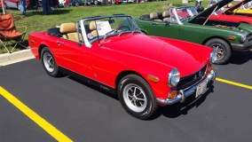 '72 Midget of Pat Killlen of Park Ridge, Illinois at 2014 Chicago British Car Day