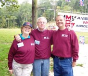 American MGB Association officers: Margie Springer, Bruce Magers and Frank Ochal