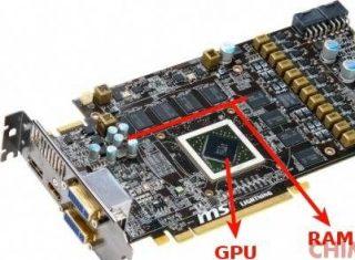 GPU e memoria video (RAM) in una scheda video