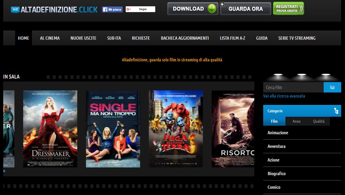 Cerco un sito per scaricare film gratis
