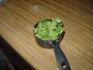 3/4 cup brocoli
