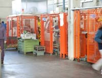 Panoramica del reparto di produzione automatizzata MGF
