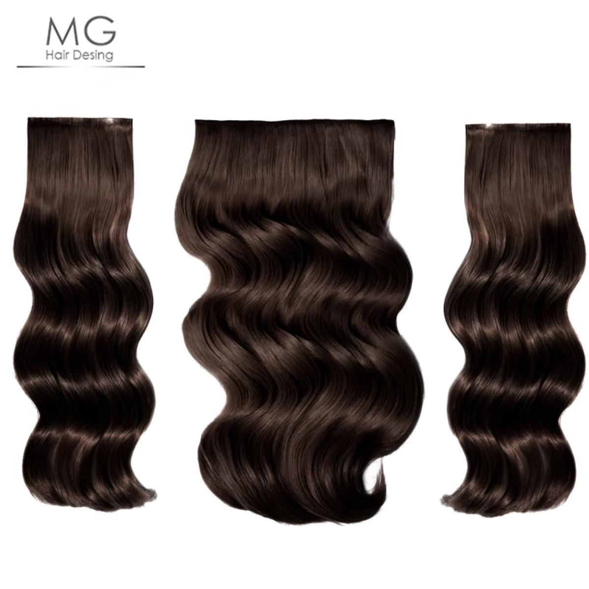 65cm160gr Yarim Ay Postis 3 Parca Dogal Koyu Kahve M G Hair Desing