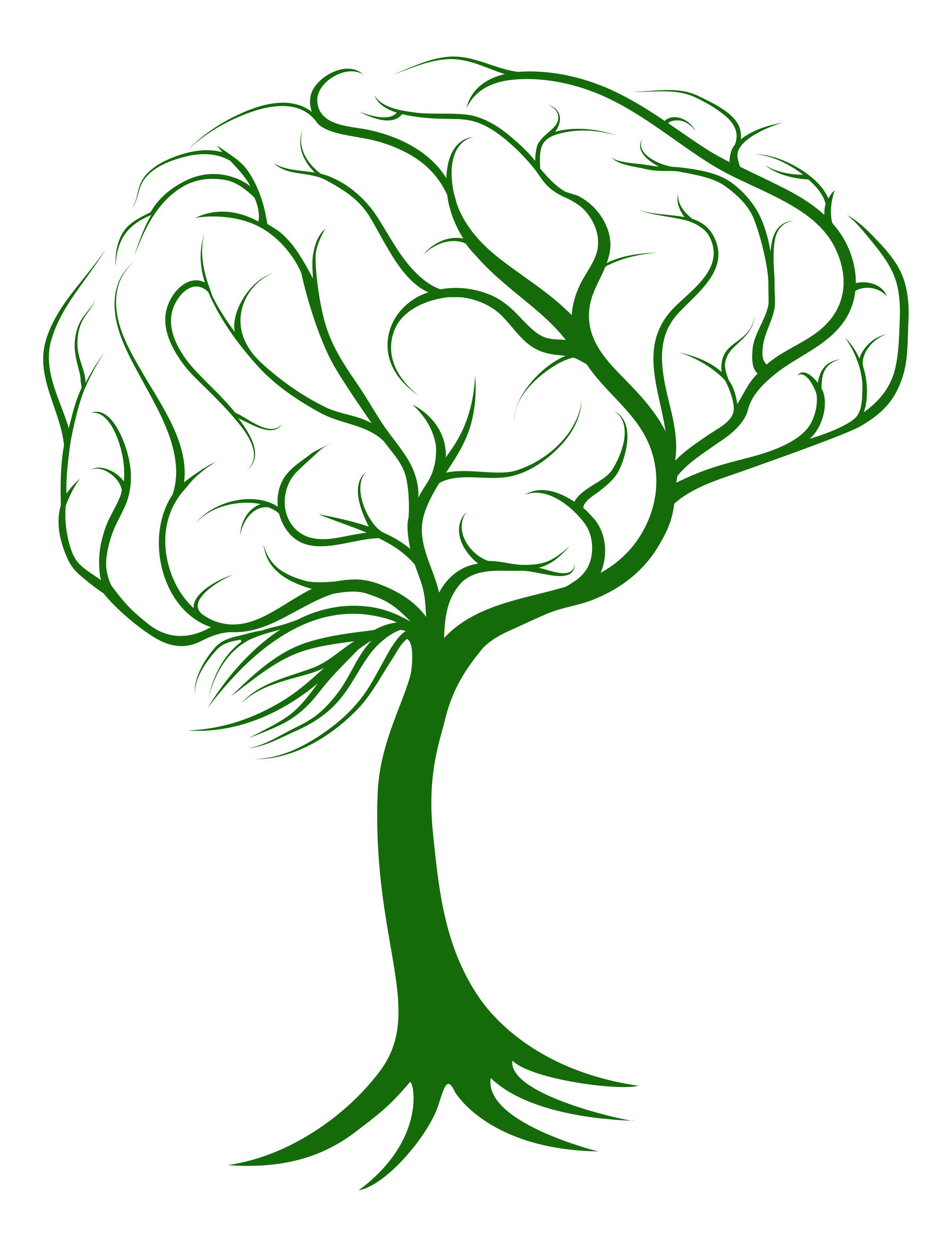 31812836 - brain tree concept of a tree with roots growing in the shape of a brain