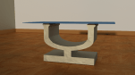 Chalice Coffee table 675x350x400mm Glass 1000x700x4mm £495