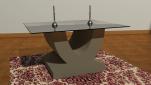 U coffee table Table 800mm x 400mm x 400mm Glass top 1000mm x 600mm x 4mm £700