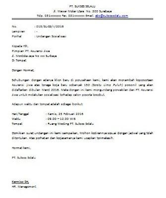 Contoh Surat Undangan Resmi Negeri Swasta Cara Buat Surat Way Of