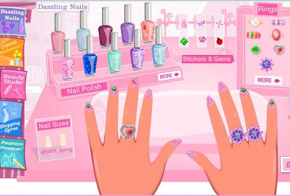 Doraemon Games Play Barbie Dazzling Nails Game