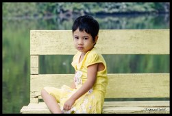Girl in Yellow with Thanaka