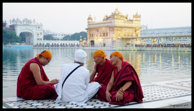 Monks at Golden Temple