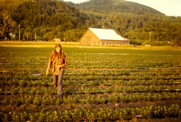 Paula at the lilly farm
