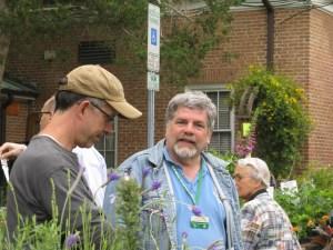 Paul Nuhn in the garden