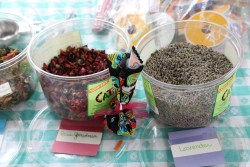 Herbal Sachet Making materials: Rose petals and Lavender buds