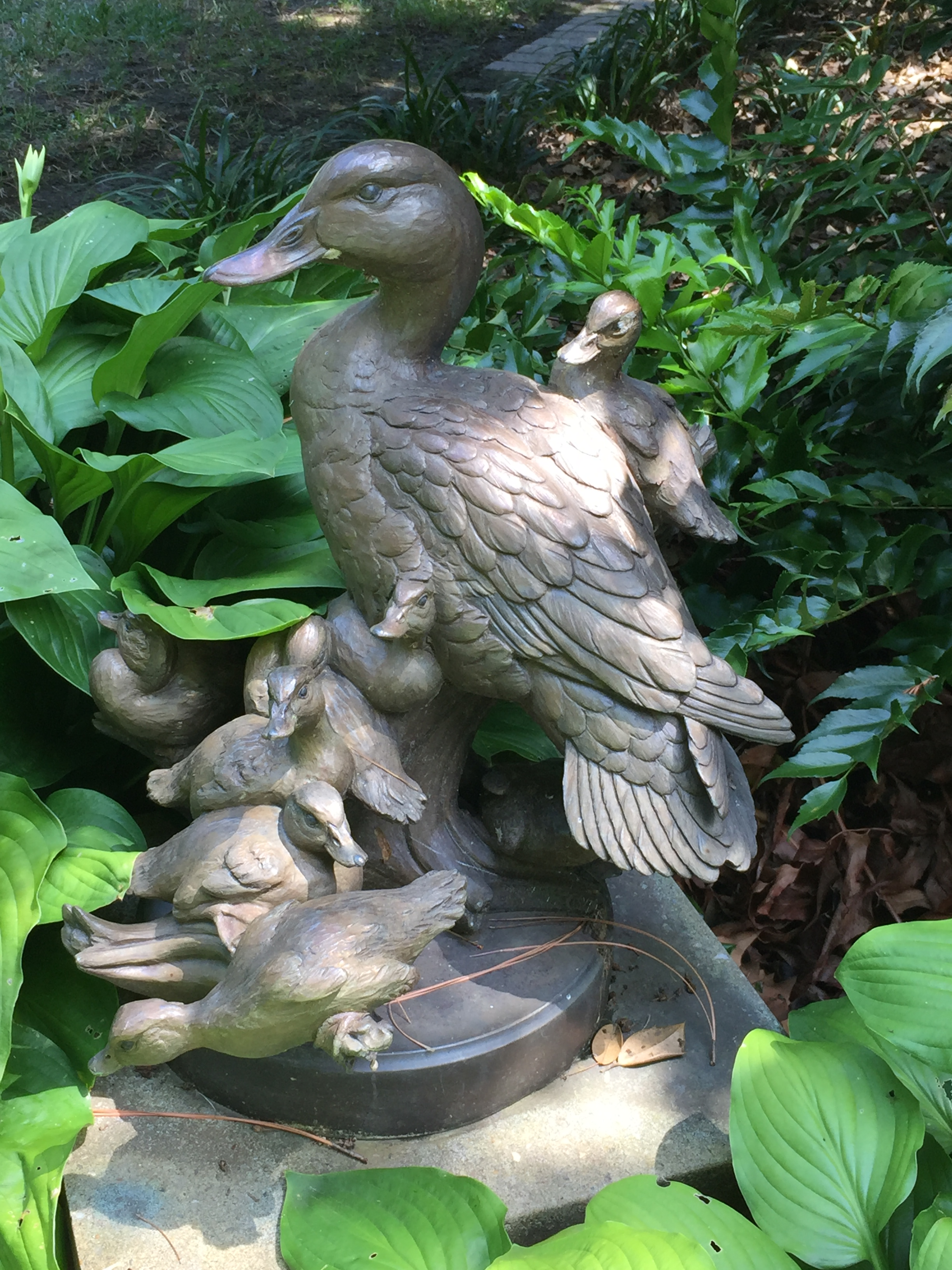 """""""Spring Break"""" by William Turner, an example of the bronze wildlife sculptures placed around the Holly Garden."""