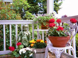 Container garden on front porch April 2006