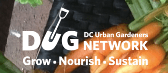DUG - DC Urban Gardeners Network Logo - Grow - Nourish - Sustain
