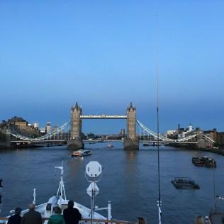 Sailing towards Tower Bridge, London, England Photo © 2019 Nancy Smith Brooks