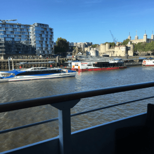 View of the Tower of London from my stateroom balcony, London, England Photo © 2019 Nancy Smith Brooks