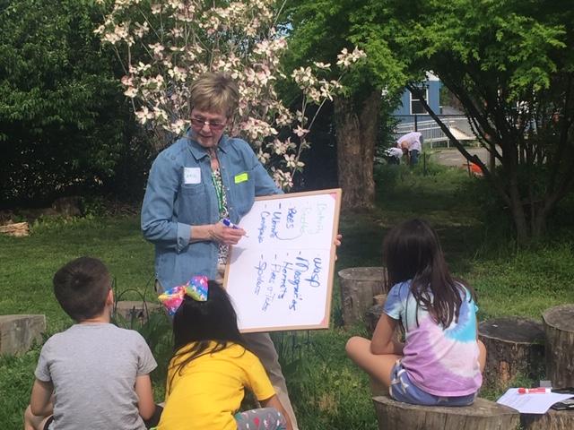 EMG training a junior master gardener group.
