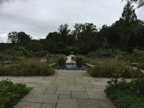 The Formal Gardens are linked by a continuous line of flagstone paths
