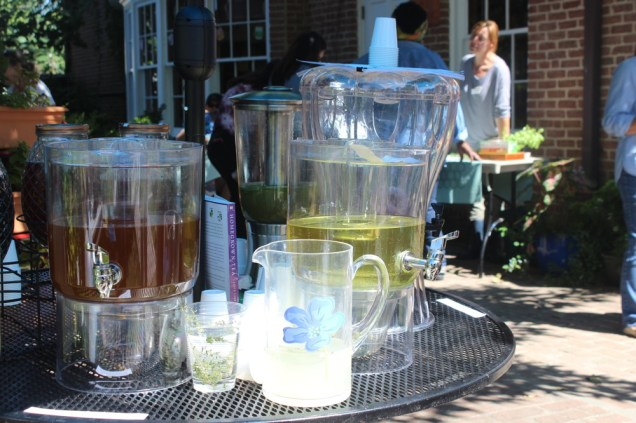Delicious herbal teas & lemonades for the Autumnfest visitors. Photo © 2019 MGNV