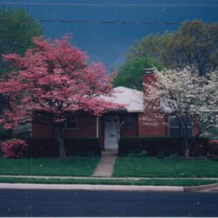 Original front yard in 1992.