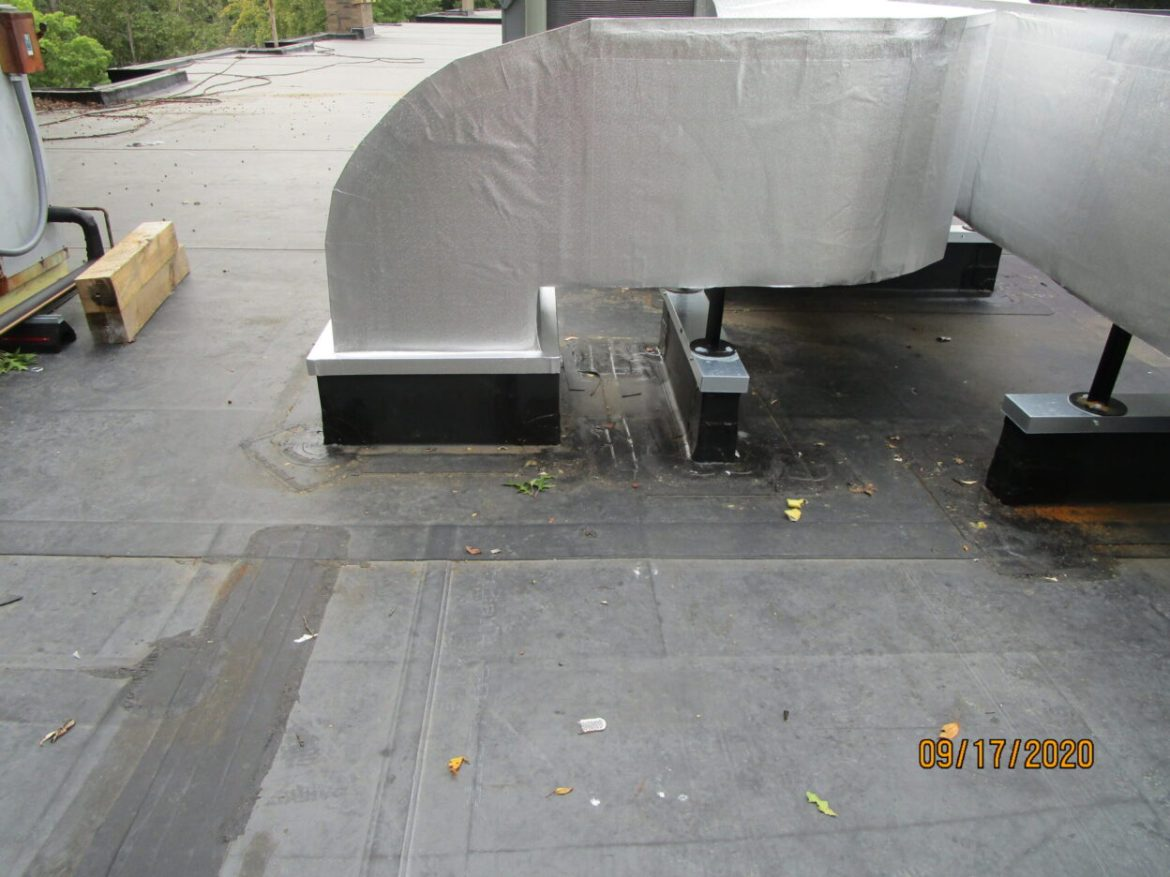 New duct curbs and equipment rails  on an existing roof