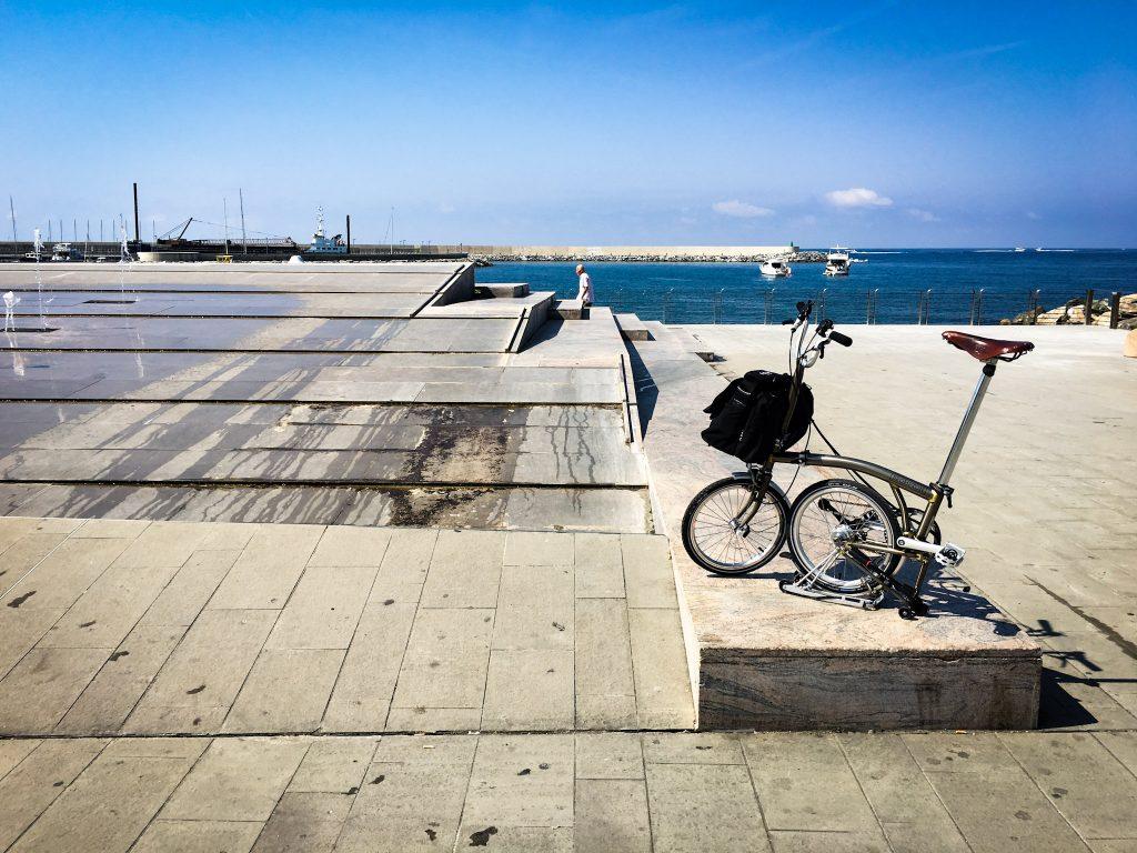 Chiavari in Bicicletta Brompton