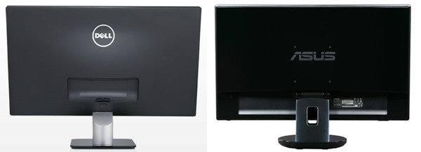 Dell S2240L vs Asus VE247 Monitor Back